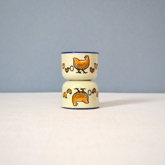 Two Vintage Knabstrup Pernille Egg Cups by MidModMomStore on Etsy, $40.00