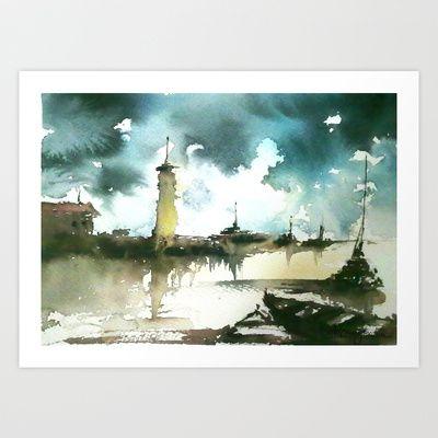Sea Art Print by Baris erdem - $15.00