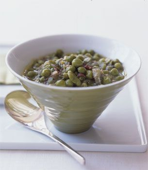 Fava Bean, Pea, and Artichoke Stew | Recipe | Stew, Artichokes and ...