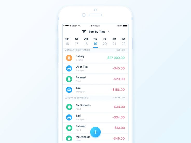 Finance app - Transactions sorting by Anatoliy Nesterov