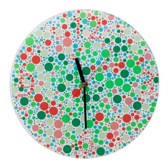 Color Blind Clock: seeing spots? Good news, you are healthy! This is awesome!!