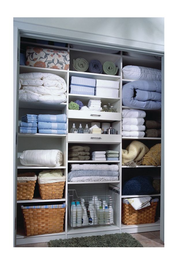 Ideas & Inspiration for Organizing and Putting Together a Linen Closet More