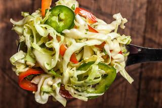 Spicy Lime and Jalapeño Coleslaw Recipe/A favorite with salsa and chips