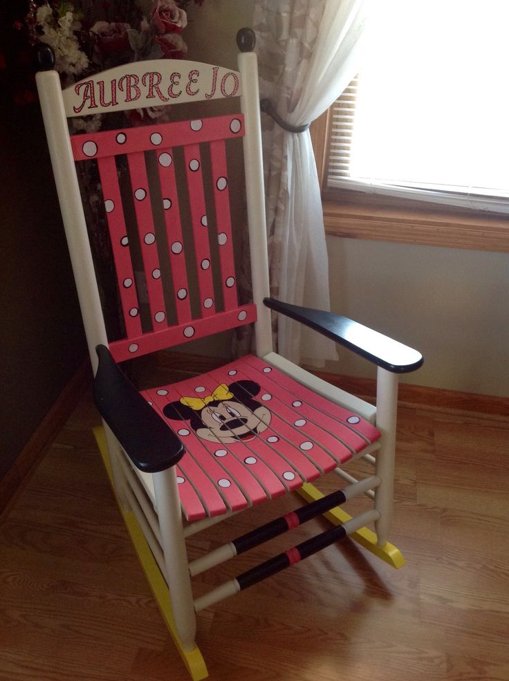 This is my newest Painted Chair by special request. All hand painted, loved doing this one. Check out my Facebook page Dixcie's Painted World !