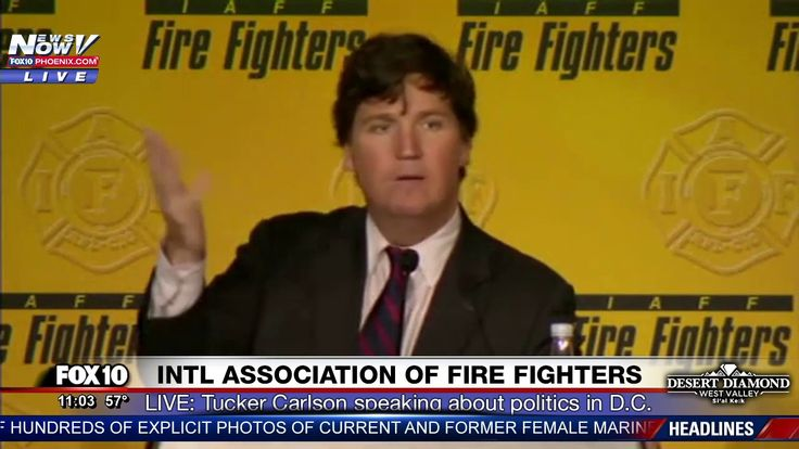 FNN: Tucker Carlson GOES IN on DC Politicians, Says They Hate Trump @ IAFF Fire Fighters Conference - YouTube