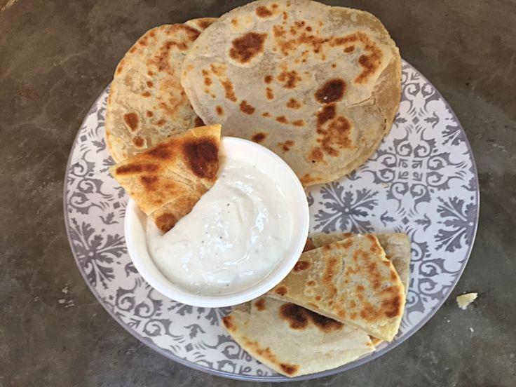 Delicioso Pan al Sartén tipo Flat Bread. Demasiado bueno para ser verdad!