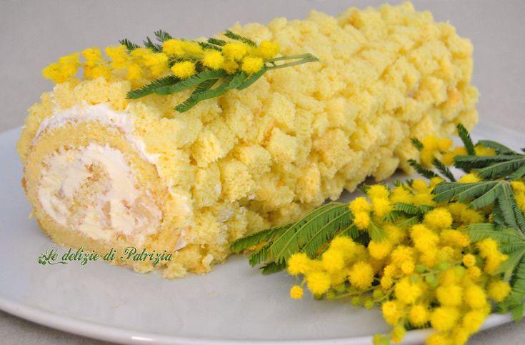 Rotolo mimosa ©Le delizie di Patrizia Gabriella Scioni Ricette su: Facebook: https://www.facebook.com/Le-delizie-di-Patrizia-194059630634358/ Sito Web: https://ledeliziedipatrizia.com