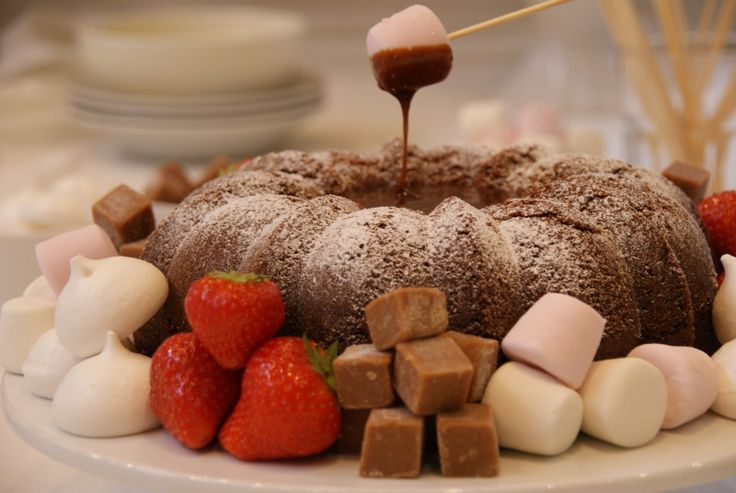Toblerone Fondue Cake ~ The Pink Whisk