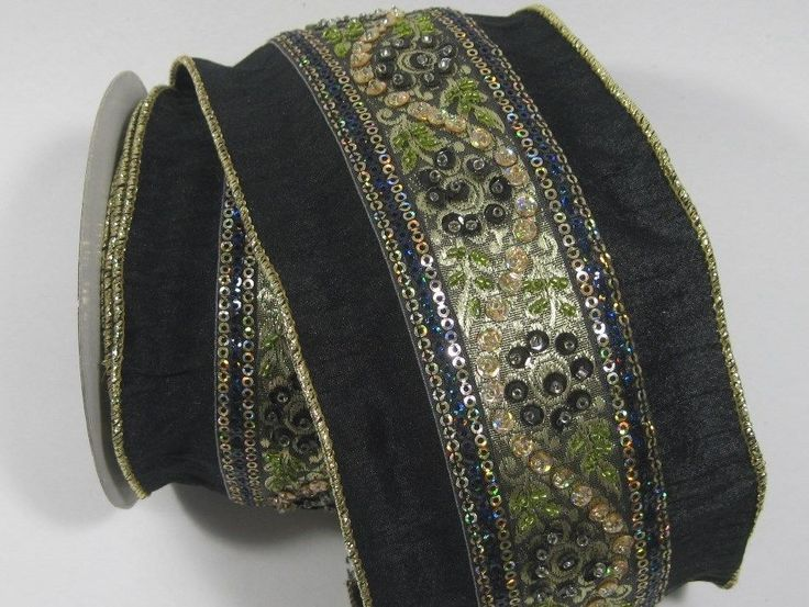 9 Yards X 4 Quot D Stevens Ribbon Wire Trim Jodha Sari Black