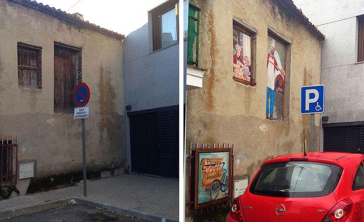 antes casa de pueblo-pintura-arte urbano-Fresnedillas de la Oliva -casasconvida-elena_parlange-arte urbano-