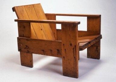 Crate Armchair, ca. 1935  Gerrit Rietveld, Dutch, 1888-1964  Wood  height: 23 1/4 in. width: 22 in. diameter: 28 in