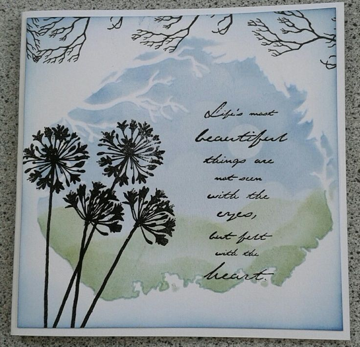 We got some new stencils from clarity and here is a card using one of them