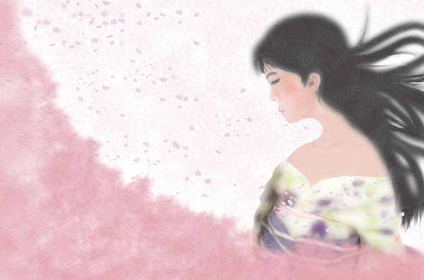 Women of Japan, illustration by Takeshi Tanaka - ego-alterego.com