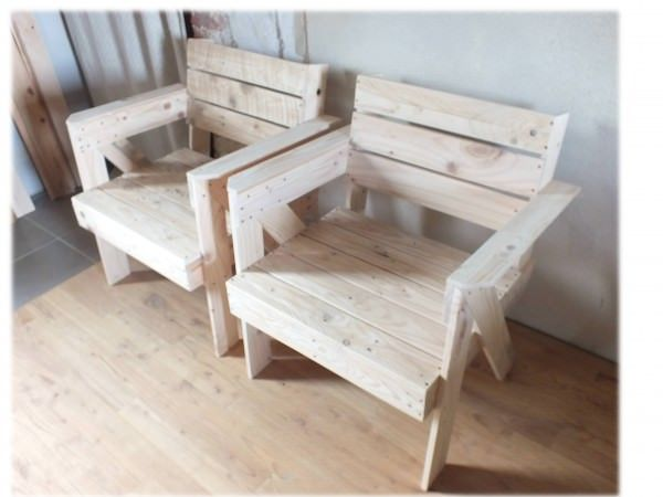 Fauteuils En Bois De Palette / Pallet Armchair Benches & Chairs