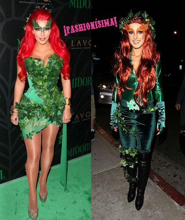 Disfraz de hiedra venenosa ¿Kim+Kardashian+o+Shenae+Grimes?+#Halloween
