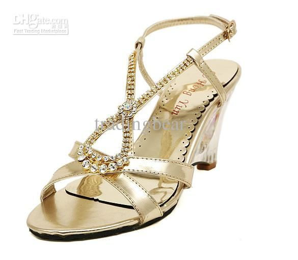Cheap New Silver Rhinestone Diamond Shoes Sweet Shallow Mouth T Strappy Low Heel Bridal Size 35 To 39 As 3429 Also Buy Shoe Sandals