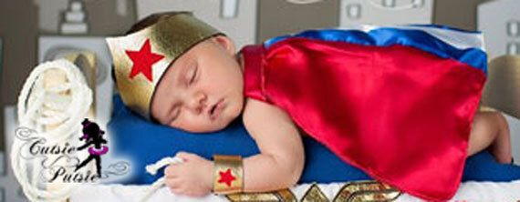 Baby Wonder Woman Costume - Baby Halloween Costume - Super Hero Baby - Girl Halloween Costume - Newborn Photo Prop - Wonder Woman - Dress Up by CutsiePutsie on Etsy https://www.etsy.com/listing/110731503/baby-wonder-woman-costume-baby-halloween