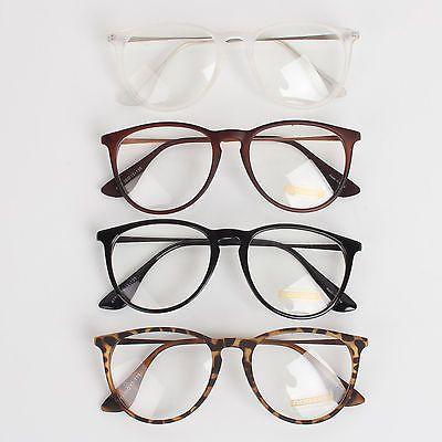 NEW Men Women Unisex Nerd Geek Clear Lens Eyewear Retro Wayfarer Glasses