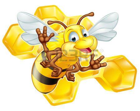 cartone animato: Un esempio di un simpatico cartone animato ape carattere…