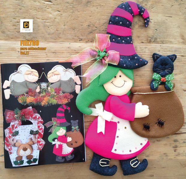 :. Halloween .:  FIELTRO para coleccionar Especial de trabajos navideños  Vol.27  Cómprela en la Tienda de revistas: http://j.mp/R5ZHD7 o en nuestro sitio web: http://www.editorialduve.com/   #fieltro #halloween #manualidades