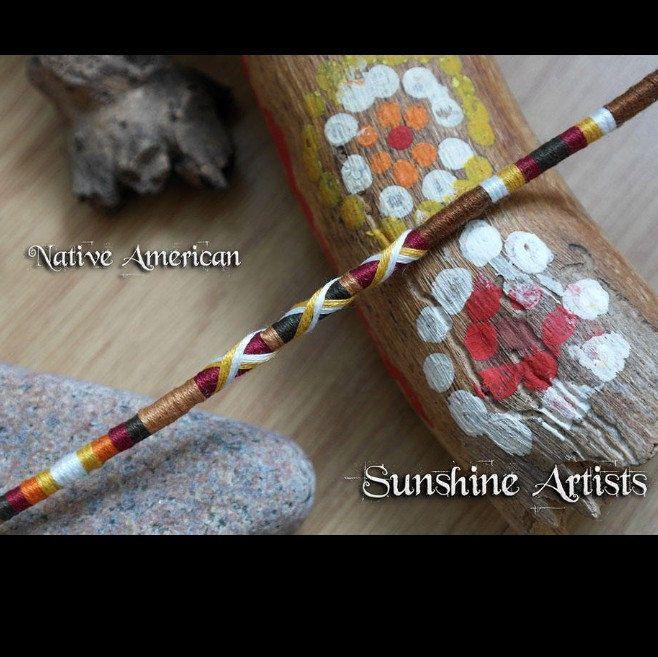 Tribal Clip In Handmade Hair Extension Thread Hair Wraps Native