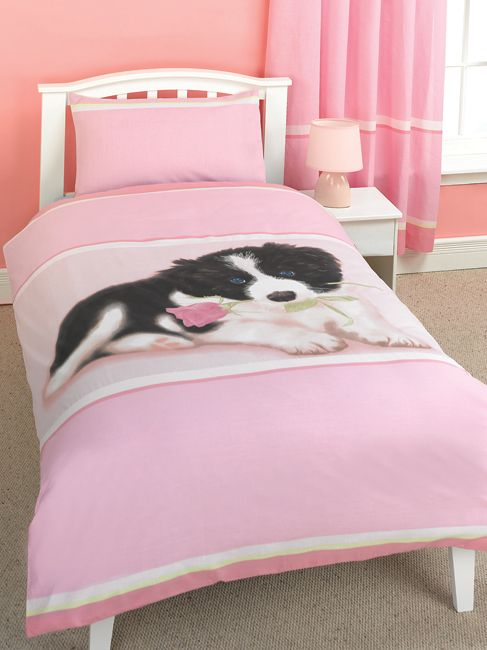 Rachael Hale Duvet Cover and Pillowcase - Flint the Puppy.   The worlds most lovable animals inspire and delight all ages all around the globe. Duvet Size 137cm x 200cm (54in x 78in). Pillowcase Size 50cm x 75cm (19in x 29in). 50% cotton  http://www.comparestoreprices.co.uk/duvet-covers/rachael-hale-duvet-cover-and-pillowcase.asp  #puppybedding #puppyduvet #duvet #duvetcovers #puppies #dogs #cutepuppies