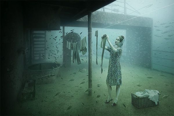 Vandenberg Project | The Sinking World of Andreas Franke... this series is INCREDIBLE. And the gallery is literally underwater and accessed by scuba diving to it.