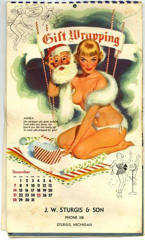 Christmas Pin Up Girl