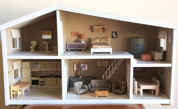 Vintage Restored & Complete Dolls House by Artistique on Etsy, £200.00
