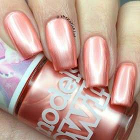Models Own Celestial Collection - 'Sweet Peach' is a beautiful pearly orange nail polish.