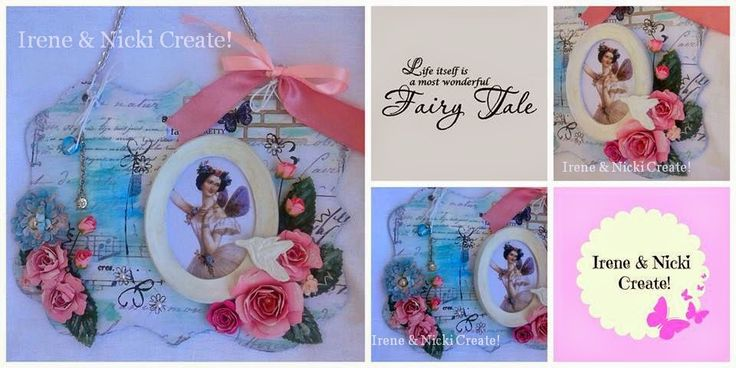 Irene & Nicki Create!  :         VINTAGE FAIRY WALL HANGING                ...