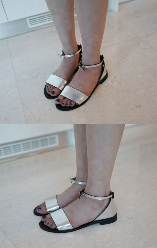 Dress Up Confidence! 66girls.us Metallic Ankle Strap d'Orsay Sandals (DICC) #66girls #kstyle #kfashion #koreanfashion #girlsfashion #teenagegirls #younggirlsfashion #fashionablegirls #dailyoutfit #trendylook #globalshopping