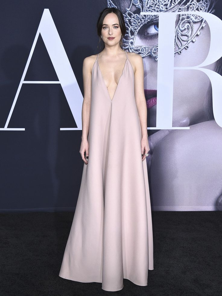 Dakota Johnson Takes the Plunge in Valentino at Fifty Shades Darker Premiere in L.A.