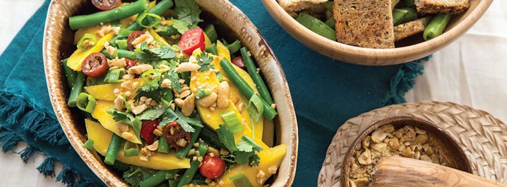 Green Bean and Mango Salad - Plant-Based Vegan Recipe