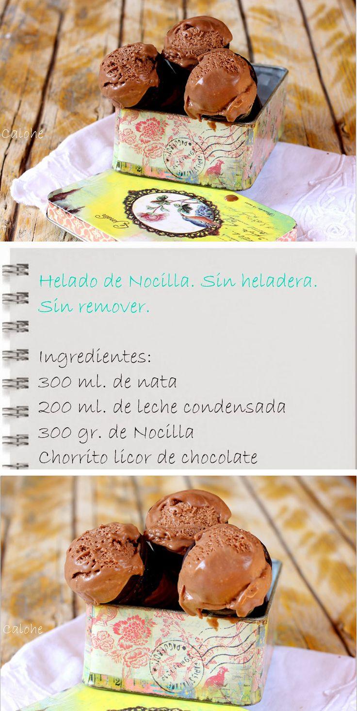 Helado de Nocilla o Nutella / http://laslibretasdecalohe.blogspot.com.es/