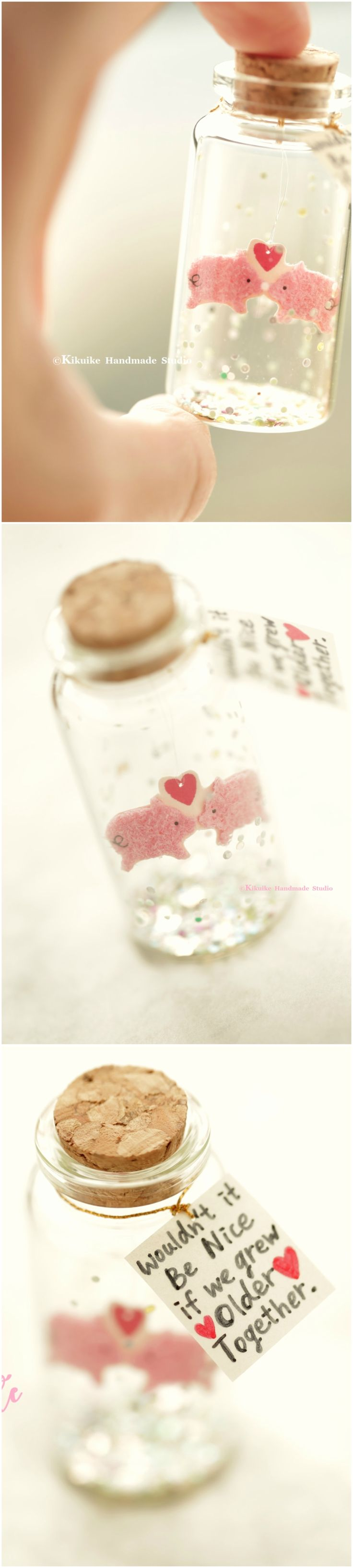 wouldn't it be nice if we grew older together,Tiny message in a bottle,Miniatures,love card,Valentine Card,Gift for her/him,Girlfriend gift, birthday card, message card and miniatures card ideas #pig #piggy #piglet #holidaycard #cuteanimals #handmade #custom #unique #cute  #art #gold #messagecard #homedecor #deskdecor #glitter #lovecard #sweet #greetingscard #paper #seasonalcard #partygift  #personalizedgift #Longdistancegift #birthdaycard #kikuikestudio #tiny   #illustration