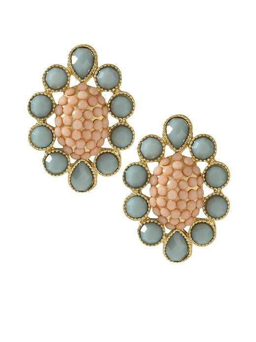 Piperlime | Green and Pink Flower Drop Earring