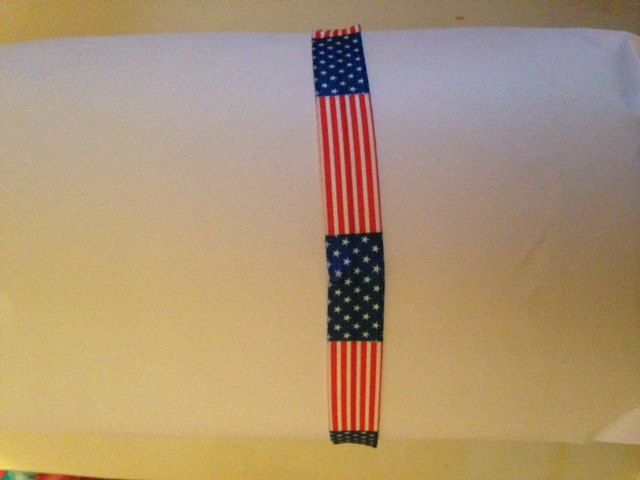 American Flag Red White & Blue Fold Over Elastic (FOE) Headband that doesn't crease or damage your hair Adult, Child, or Baby/Toddler Size by MamaSellsStuff on Etsy