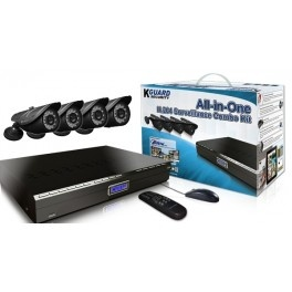 This BR All-in-ONe Combo Kit Series includes everything you need to setup a complete remote surveillance solution. With the stylish DVR and 4 KGUARD-exclusive weatherproof day/night cameras, this package is the ideal solution for your Home or Small business. Only $411.95 at Spexis Technology!