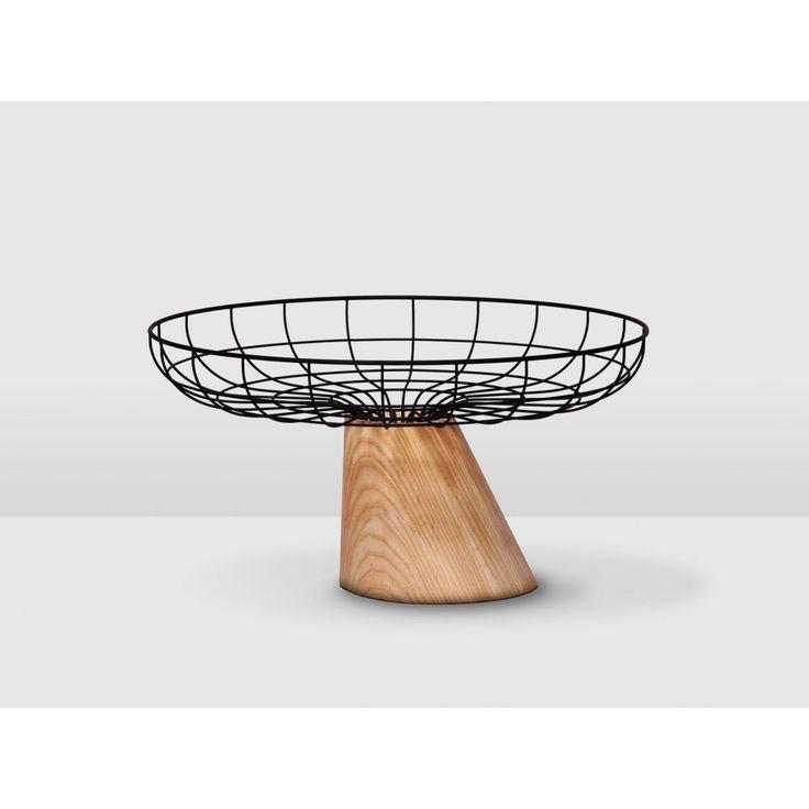 Leaning Black Wire Fruit Bowl   Urban Couture - Designer Homewares & Furniture Online