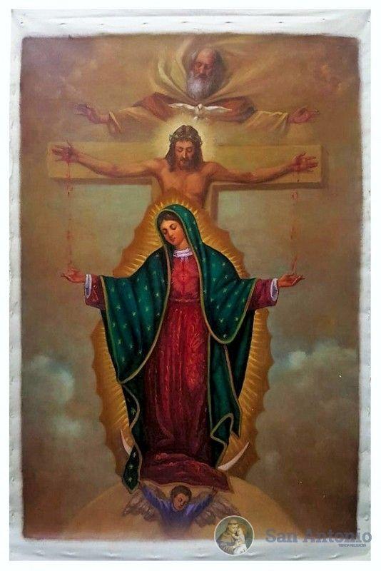 Virgen De Guadalupe Con La Santísima Trinidad: Obra inspirada en la virgen de Guadalupe y la santísima Trinidad..