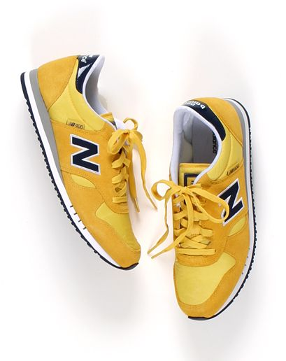 omg. love these! Yellow New Balance 400 Sneakers