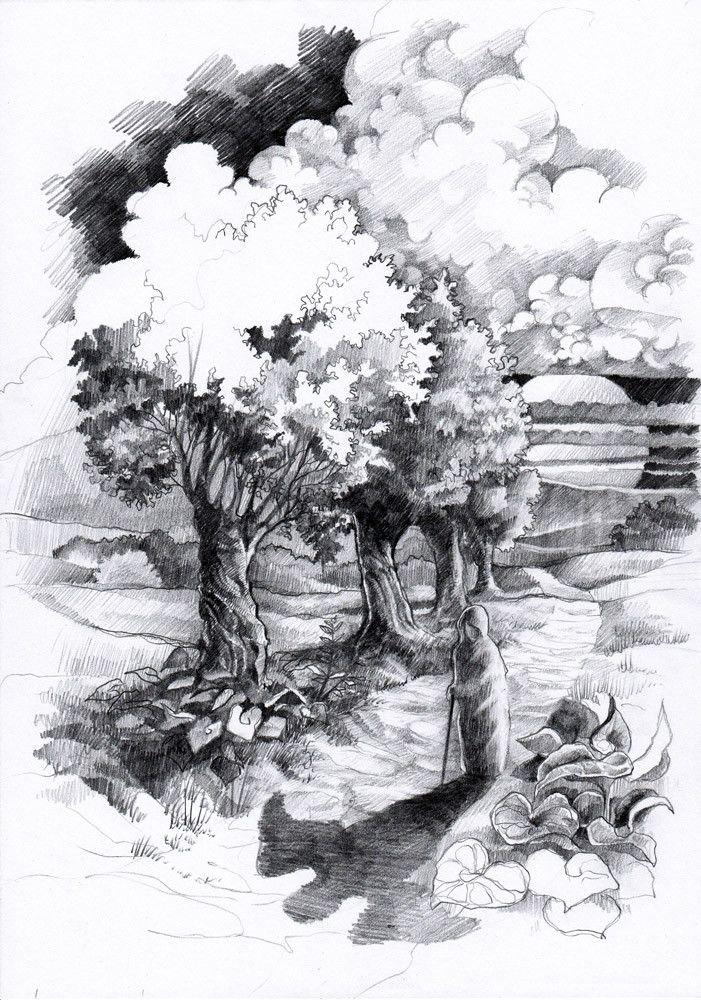 Fantasy landscape by #minkulul Luiza #Malinowska