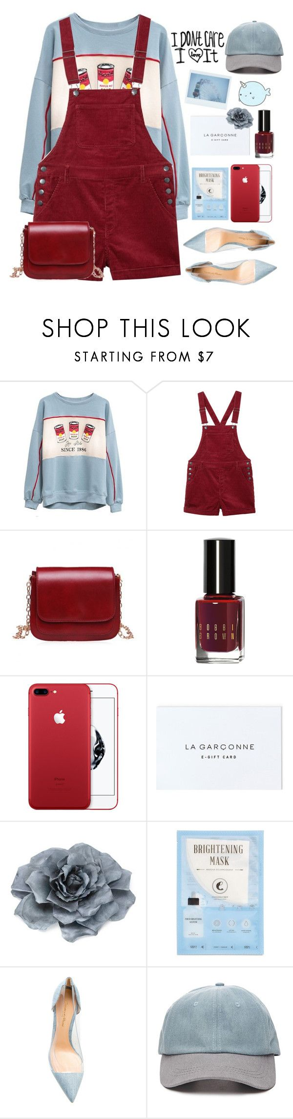 """""""🍟✨."""" by parkmona ❤ liked on Polyvore featuring Monki, Bobbi Brown Cosmetics, Monsoon, Kocostar, Gianvito Rossi and Forever 21"""