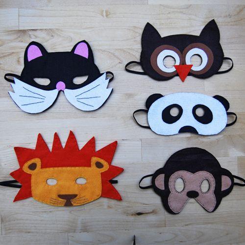 Globers Máscaras de animales en fieltro para niños ...