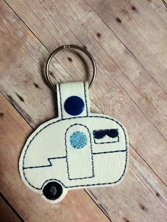 ITH Camper Snap Tab/Key Fob DIGITAL Embroidery Design