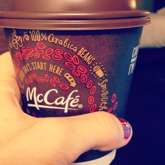 Stop by McDonald's during breakfast hours September 16-29, 2014 and you can get a free small McCafe coffee. No purchase is necessary.