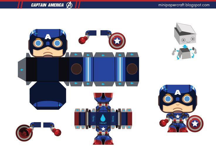 Capitão América - papercraft