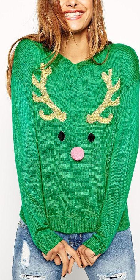 Cute reindeer sweater