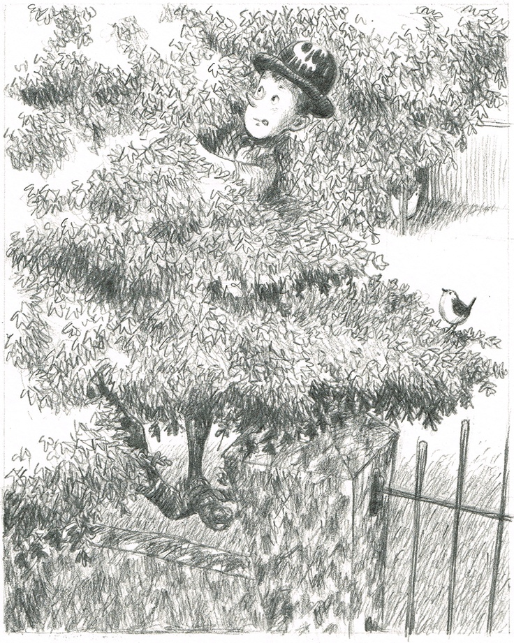 Panel 6 from page 10 out of graphic novelette Peter and the wolf.